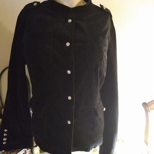 Mossimo Fitted Waist Jacket Black XXL lined button